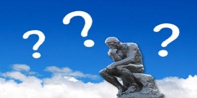 考える銅像