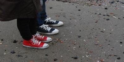 父と子の靴